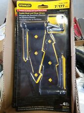 """7"""" Black Screw Hook and Strap Hinges (2Pcs)Heavy Duty, Stanley 61-2043/CD1393"""