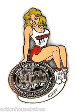 HOOTERS RESTAURANT 20th ANNIVERSARY GIRL KIRBY LAPEL BADGE PIN