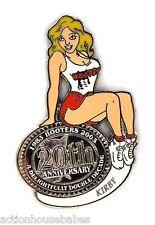 HOOTERS RESTAURANT 20th ANNIVERSARY GIRL KIRBY LAPEL BADGE PIN