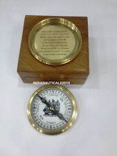 Nautical Victorian Compass Vintage Handmade Brass Compass With Box