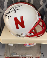 Mike Rozier SIGNED AUTOGRAPHED Nebraska Cornhuskers mini helmet TRISTAR COA