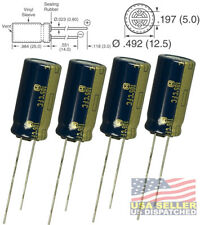 4x Panasonic FM 1000uF 35v Low-ESR radial capacitors caps 105C 12.5mm 12.5x25