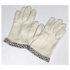 Vintage Rhinestone Cuff Silk Hand Gloves