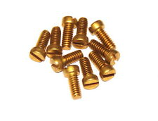 "Ten Meccano Part 111c Cheesehead Bolt 3/8"" (10mm) Brass"