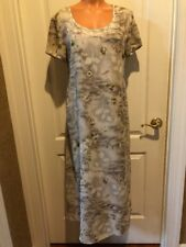 MATERNITE Maternity Scoop Neck Tan Floral Print Dress S Small Auction