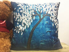 1x Simple painting Oil painting tree Home Decor sofa Cushion Covers Pillow Case