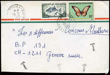 Ivory Coast 1982 Tax Mark Postage Due Cover To Switzerland #C17300