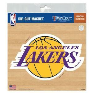 """LOS ANGELES LAKERS 6""""X6"""" DIE-CUT MAGNET FOR INDOOR OR OUTDOOR USE HIGH QUALITY"""