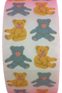 "400 Teddy Bear Stickers in roll of 100 modules (2""x2""), each sticker 1"", RF6102"