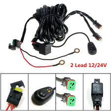 2 Lead 40A 12V LED Work Fog Light Bar Wiring Harness Kit ON/OFF Switch Car Truck