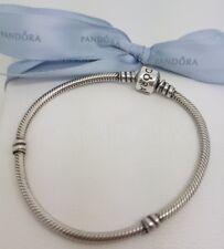 Authentic Pandora Moments Sterling Silver Charm Bracelet 19cm