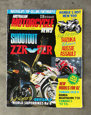 MOTORCYCLE NEWS Aug 1991 - AMCN ZZR FZR 600 DUCATI 888 HESKETH VORTAN KH125 GP