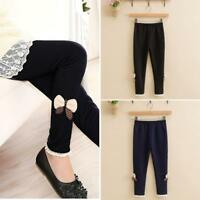 HK- Toddler Baby Kids Girls Winter Warm Jeans Stretchy Pants Hosiery Trousers Gr