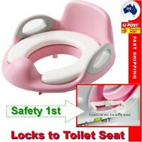 2 in 1 Baby Toilet Seat Training Child Toddler Kid Safe Potty Trainer Chair PINK