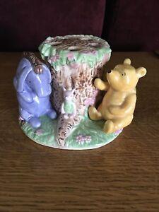 Disney Classic Winnie the Pooh Toothbrush Holder Pooh Bear Eeyore Piglet Ceramic