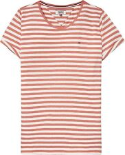 TOMMY HILFIGER Tommy Jeans Linen Blend Stripe T-shirt  Small Brand New With Tags
