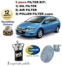 Per HONDA INSIGHT 1.3 Hybrid 4/2009 - & gton Kit di Servizio Olio Aria Polline Filtro impostato
