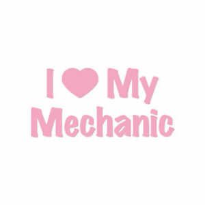 I Love My Mechanic Heart - Decal Sticker - Multiple Colors & Sizes - ebn3513