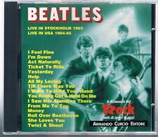 THE BEATLES LIVE IN STOCKHOLM 1963/LIWE IN USA 1964-65  A. CURCIO EDITORE  CD