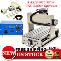4AXIS 3020 CNC Router Engraver Engraving Machine 3D Cutter Metal,Woodworking300W