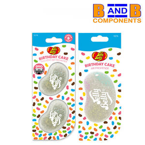 Jelly Belly BIRTHDAY CAKE DUO VENT & 3D Gel Car Air Freshener A1704
