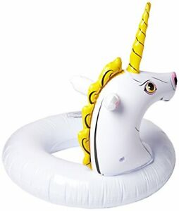 Wham-O Splash Unicorn Pool Float 8.3 x 7.4 x 2.3 inches White and Yellow 1 pc