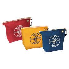 Klein Tools 5539CPAK Assorted Canvas Zipper Bag, 3-Pack