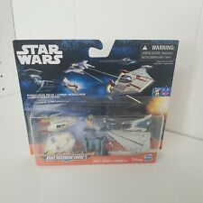 STAR WARS 2016 MICRO MACHINES MANDALORIAN MELEE SET Playset X Wing Tie Fighter