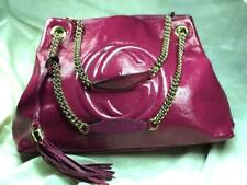 e13a4619782 GUCCI SOHO CHAIN PINK PATENT LEATHER TOTE with TASSEL ( FREE SHIPPING)