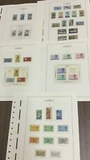 MOMEN: CYPRUS 1963-1965 MINT COLLECTION ON HINGELESS PAGES LOT #6051