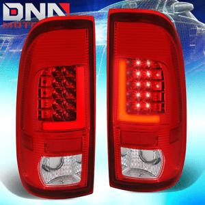 [3D L-STREAK LED BAR] FOR 08-16 SUPER DUTY CHROME RED TAIL LIGHT PARKING LAMP