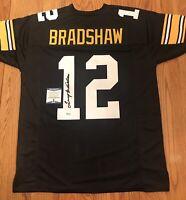 Terry Bradshaw Autograph Signed Custom Pittsburgh Steelers Jersey Beckett COA