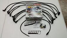 Moroso Big Block Chevy 454 7.4L Spark Plug Wires, 90 Deg Boots, HEI Under Header