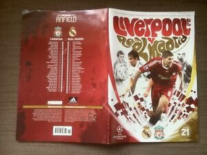Liverpool FC - Real Madrid. Champions League, 10/3/2009 programme