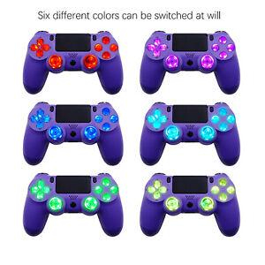 For PS4 Wireless Controller Rocker Cap Cross Key ABXY Board Light Handle LED Set