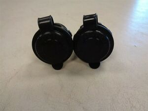 BLUE SEA SYSTEMS 12 VOLT OUTLET PLUG PAIR (2) BLACK MARINE BOAT