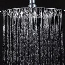 Stainless Steel 20cm Round Rain Shower Head Rainfall Bathroom Chrome  Sprayer US