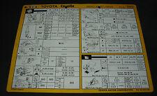Inspektionsblatt Toyota Corolla Diesel CE 90 Werkstatt Service Blatt 08/1989!