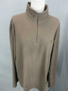 The North Face Size XL Mens Brown Athletic 1/4 Zip Fleece Pullover Shirt T372