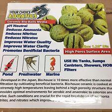 "+3lbs Ceramic Bio Balls Filter Media - 1.25"" with 2 mesh bag"