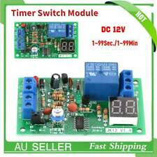 New Trigger Cycle Delay Timer Switch Turn On/Off Relay Module+LED Display DC 12V