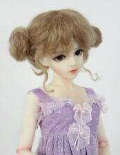 "1/4 1/3 bjd 7-8"" doll wig beige real mohair dollfie msd minifee W-JD406M"