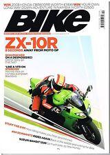 Bike Feb 2008 ZX-10R HP2 848 Scrambler CBF600 MT-01 R1200R Schwantz Schumacher