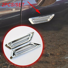 Chrome Auto Door Edge Flow Air Vent Grille Net Decorate Hood Sticker Accessories