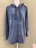 Rachel Hollis Ltd Falconer Sweatshirt w/Side Zip - Blue - Small