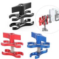 Dual Ball Diving Clamp 2-Hole Butterfly Clip Underwater Arm for GoPro Flashlight