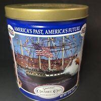TRAILS END Caramel Popcorn Collectable Tin America's Past & Future Boston Harbor