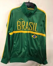 NWT Men FIFA World Cup Soccer BRAZIL National Team Track Jacket XL