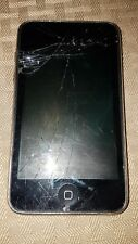 Apple iPod touch 2nd Generation Black (8 GB) Heavy Wear, LCD Cracked-WORKS GOOD