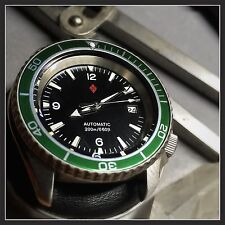 Seiko SKX Planet Ocean Custom Diver's Watch Easy Read with Green Bezel Insert
